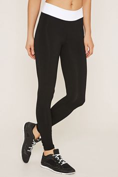 Active Contrast-Panel Leggings   Forever 21 - 2000152162