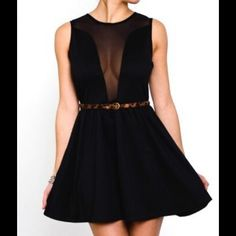 Tobi black mesh dress Worn once so it is like new. The perfect classy cocktail dress with a little flair. Tobi Dresses