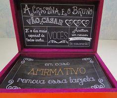 Convite criativo para Padrinhos de Casamento. Sigam: @centraldanoiva