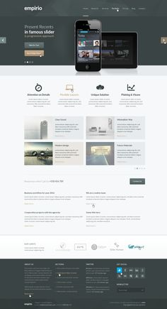 empirio PSD Template by entiri #clean #website #webdesign