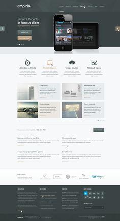 empirio PSD Template by entiri , via Behance | #webdesign #it #web #design #coffee #layout #userinterface #website #webdesign <<< repinned by www.BlickeDeeler.de | Follow us on www.facebook.com/BlickeDeele