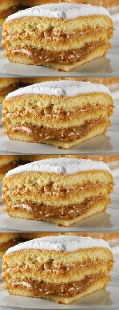 Bem Casado (Cake w/ Egg Mixture) Food Cakes, Cupcake Cakes, Fun Desserts, Delicious Desserts, Yummy Food, Sweet Recipes, Cake Recipes, Dessert Recipes, Brazilian Dishes