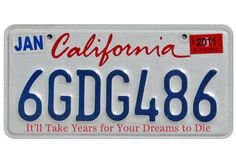 Humor: State License Plates with More Truthful Slogans: Humor: GQ Car License Plates, License Plate Art, Licence Plates, Route 66, Southern California Style, Car Number Plates, California License, State Mottos, Family Chiropractic