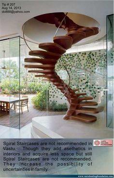 Spiral Staircase as per Vastu