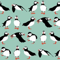 because I really really love puffins. (also available in smaller sized different colors)