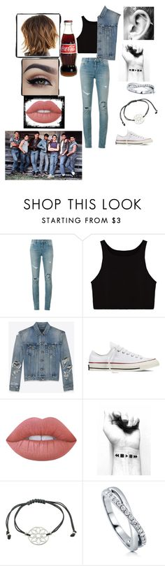 """The Outsiders inspired outfit"" by tais-943 on Polyvore featuring Yves Saint Laurent, Converse, Lime Crime, BERRICLE and vintage"