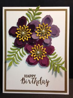 Botanical Builder Framlits Die,  Rose Wonder, Birthday Card, Stampin' Up!, Rubber Stamping, Handmade Cards
