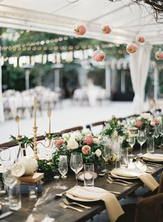 Hanging peony filled terrariums: http://www.stylemepretty.com/2016/05/13/this-disney-inspired-wedding-is-the-ultimate-fairytale/ | Photography: Ozzy Garcia - http://ozzygarcia.com/