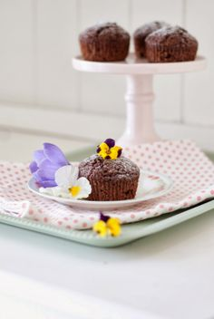 Minty House muffins, spring, pastels