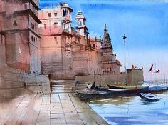 Ideas Fruit Drawing Artists For 2019 Watercolor Artwork, Watercolor Landscape, Landscape Paintings, Watercolour, Om Namah Shivaya, Pineapple Wallpaper, Fruits Drawing, Fruit Picture, Drawing Artist