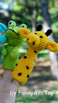 Animal Finger Puppet Finger Toy Africa Animals Toddler Toys Gift For Toddlers You Can Choose Lion Crocodile Hippo Elephant Giraffe Zebra Tiger Parrot Monkey Rhino Insects For Kids, Animals For Kids, Crochet Toys Patterns, Stuffed Toys Patterns, Toddler Gifts, Toddler Toys, Easter Crochet, Crochet Baby, Finger Puppet Patterns