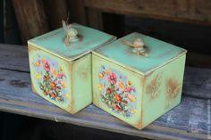 Купить Короба для хранения Запах лета - салатовый, короб для хранения, короб для кухни, короб для конфет