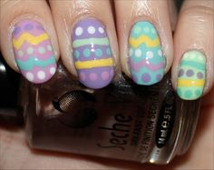 Easter Egg Nails Nail Art Tutorial & Photos