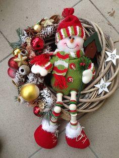 Vianočný veniec snehuliak -30cm / anad333 - SAShE.sk - Handmade Dekorácie