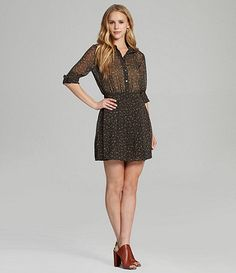 Available at Dillards.com #Dillards Bcbgeneration, Dillards, Cool Girl, Dresses For Work, Shirt Dress, My Style, Sleeves, Fashion, Shirtdress
