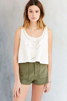 Ecote Embellished Sunday Tank Top - Urban Outfitters