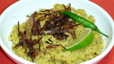 Urad dal.  To make this even better, double up on the crisp onion topping.