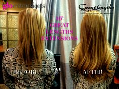 Great Lengths Hair Extensions Before and After by Glo Extensions Denver - hair lengths Hair Extension Salon, Hair Extensions Before And After, Types Of Hair Extensions, Great Lengths, Beautiful Long Hair, Pretty Hairstyles, Hair Pieces, Hair Lengths, Hair Beauty