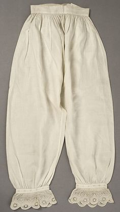 American linen underpants (drawers) 1840's