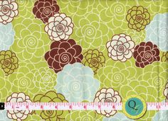 Designer Cotton Fabric By the Yard Olive Green by QuiltingGarden, $7.49