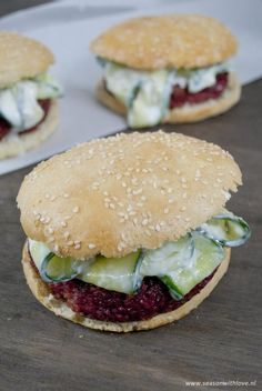 Bulgur rode bieten burger - Season with love