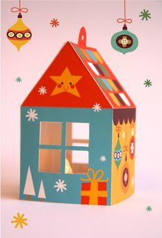 printable house ornament