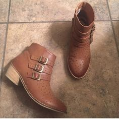 American Eagle Studded Booties Size 8. Buckle and stud details. Great condition. Bought on here but just a tad small after wearing them out once. American Eagle Outfitters Shoes Ankle Boots & Booties