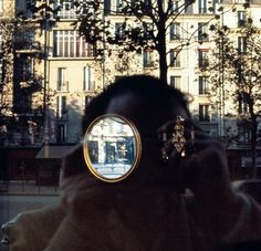 Self Portrait by Luigi Ghirri, Paris, 1976.