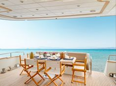 """Cape 4  Charters """"m/y Aimilia""""  Enjoy your lunch!!  #yacht #charter #Greece #lunch"""
