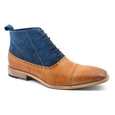 Looking for tan navy suede balmoral boots with character. Find them here: leather and suede balmoral boots for men who love style. £99.95. Free del