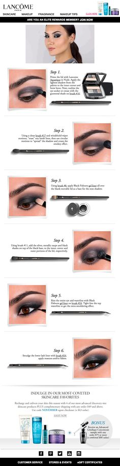 In this email, Lancome included a smokey eye tutorial featuring their Color Design 5 Pan Eyeshadow. The video with audio played directly in the inbox.