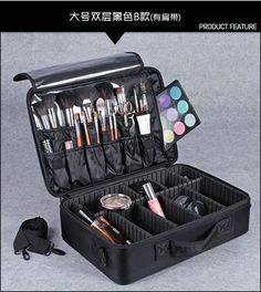 Профессиональная Косметика Случаи Большой Хранения макияж сумки Портативный…