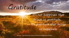 gratitude quotes and sayings | It's not happiness that brings us gratitude, it's gratitude that ...