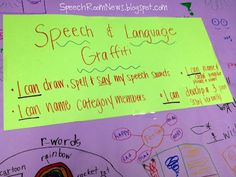 "Speech Graffiti! What a fun way to move toward the end of a school year!  from ""Speech Room News"". Pinned by SOS Inc. Resources.  Follow all our boards at http://pinterest.com/sostherapy  for therapy resources."
