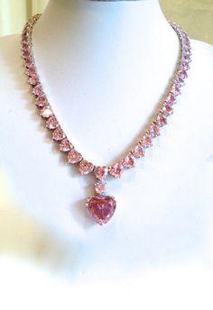 Vintage Pink Diamond Estate Jewelry Necklace by WOWTHATSBEAUTIFUL