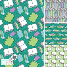 Surface patterns from our Book Lovers (pastel) collection - available for licensing
