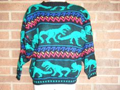 I love 80's dinosaur sweaters if you couldn't tell, haha