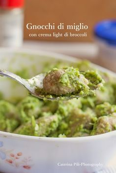Gnocchi di miglio con crema light di broccoli