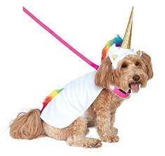 Collar with cape; Headpiece White Dog Halloween Costumes, Cute Costumes, Dog Costumes, Halloween Kostüm, Unicorn Halloween, Halloween Items, Costume Ideas, Unicorn Dog Costume, Unicorn Pet