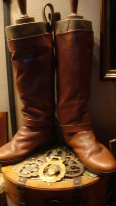 Riding boots in the trophy case