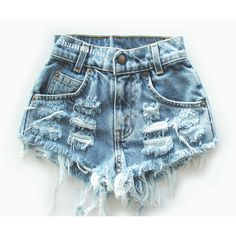 """ALL SIZES """"CHECKER"""" Vintage Levi high-waisted denim shorts blue... ($25) via Polyvore featuring shorts, bottoms, destroyed jean shorts, ripped jean shorts, distressed denim shorts, distressed jean shorts and high waisted shorts"""