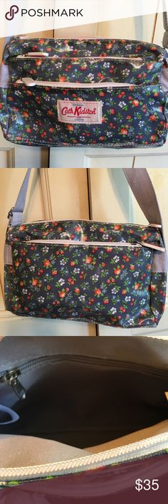 "🌼Cute floral crossbody-BNWT! Brand new with tag Cath Kidston crossbody, grayish-blue background w/cute floral pattern, top zip, 2 zip pockets in front, 1 in back and 1 inside, 9""W x 6""H x 3""D, adjustable strap-22-1/2"" drop. This is a reposh-my very 1st Posh purchase. Love it but never used it! 😢 Cath Kidston Bags Crossbody Bags"