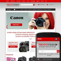 CS-Cart 3 Responsive Template cs300057 is specially designed for Photo and Video Cameras goods Store. Selling Photo and Video equipment from world famous brands: Hitachi, Panasonic, Tamron, Pentax, Canon, Sansung, Konica Minolta, Sigma, Kyocera, Tokina, Sharp, Sony, Nikon, Kodak, Olympus, Epson.