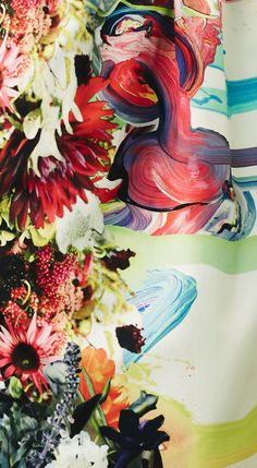 Flower/paint combo at Preen's pre-summer 2013.