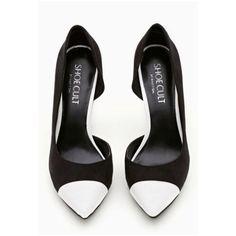 Shoes: black pumps white pumps black and white pumps black white black... ❤ liked on Polyvore