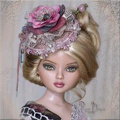On Ebay Ellowyne OOAK hat ROSE MARQUIS by Linda