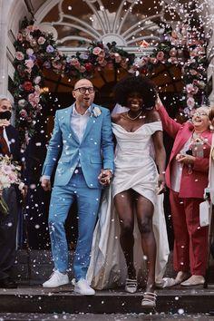 Lorraine Pascale & Dennis O'Briend June 26, 2021 Wedding Wear, Wedding Dresses, Chanel Model, Beautiful Black Women, Vivienne Westwood, Wedding Trends, Celebrity Weddings, Getting Married, Vogue