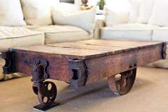 Coffee Table. Masculine & Rustic!