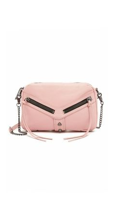 A Botkier cross-body bag in supple leather. Polished studs accent the front. The top zip opens to a lined interior with 3 pockets and 2 card slots. Baggage Claim, Prada Bag, Cross Body, Dust Bag, Shoulder Strap, Studs, Swag, Heaven, Crossbody Bag