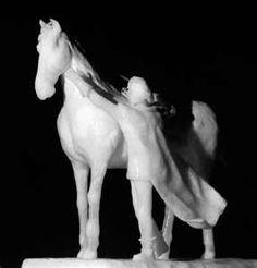 Horse & Rider Snow Art